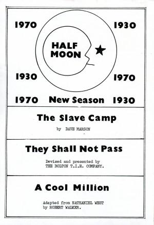 1930s Season - Flyer