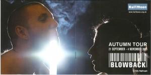 Blowback CD Programme - Front/Back 1