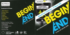 Begin/End CD Programme Cover Sleeve