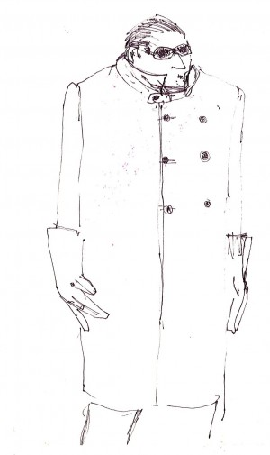 A Cool Million - costume sketch Iona McLeish