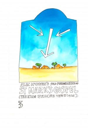 Alec McGowan's Solo Performance- St Mark's Gospel - Steve Harris Designs for poster