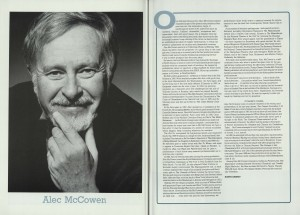 Alex McCowen's Solo Performance of St Mark's Gospel programme (3)
