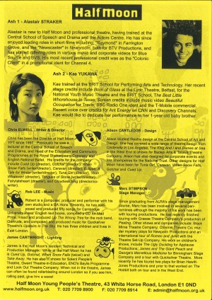 Baa Moo Yellow Dog - Programme (2)