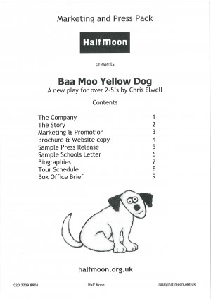 Baa Moo Yellow Dog Marketing and Press Pack - 1