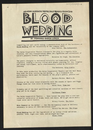 Blood Wedding Reviews