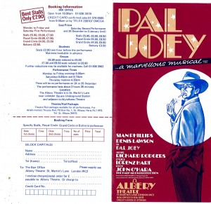 Pal Joey transfer flyer