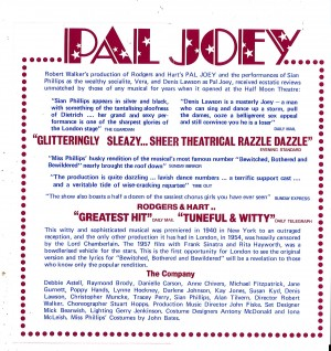 Pal Joey advert