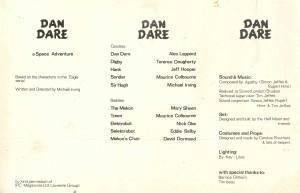 Dan Dare - programme