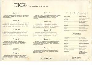 Dick - programme