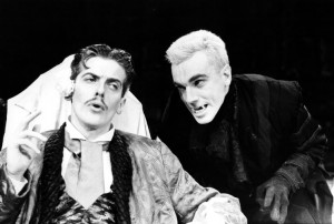 Dracula (1984). L-R - Peter Capaldi (Harker), Daniel Day Lewis (Dracula). Photo by Donald Cooper, www.photostage.co.uk