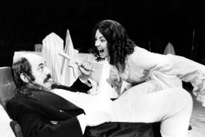 Dracula (1984). L-R - Richard Ireson (Crebbs), Judy Holt (Lucy). Photo by Donald Cooper, www.photostage.co.uk