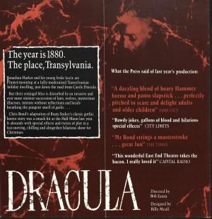 Dracula (1985) Flyer - Back