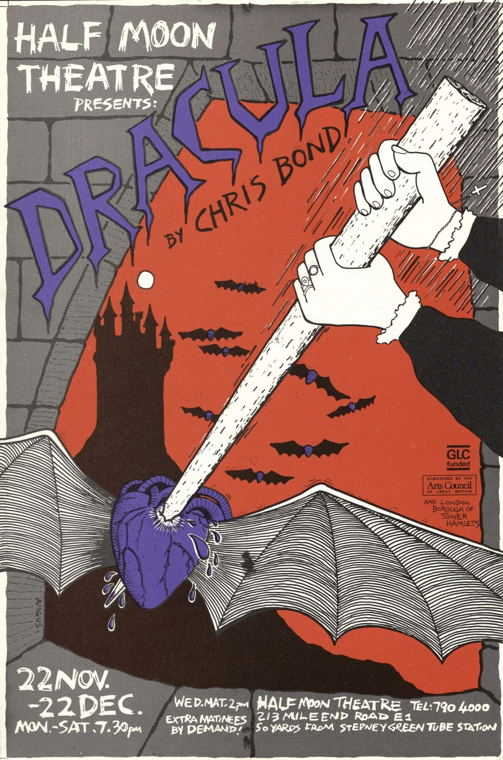 Dracula Flyer- 1984 (Front)