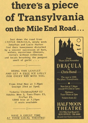 Dracula Flyer Advertisement (1984)