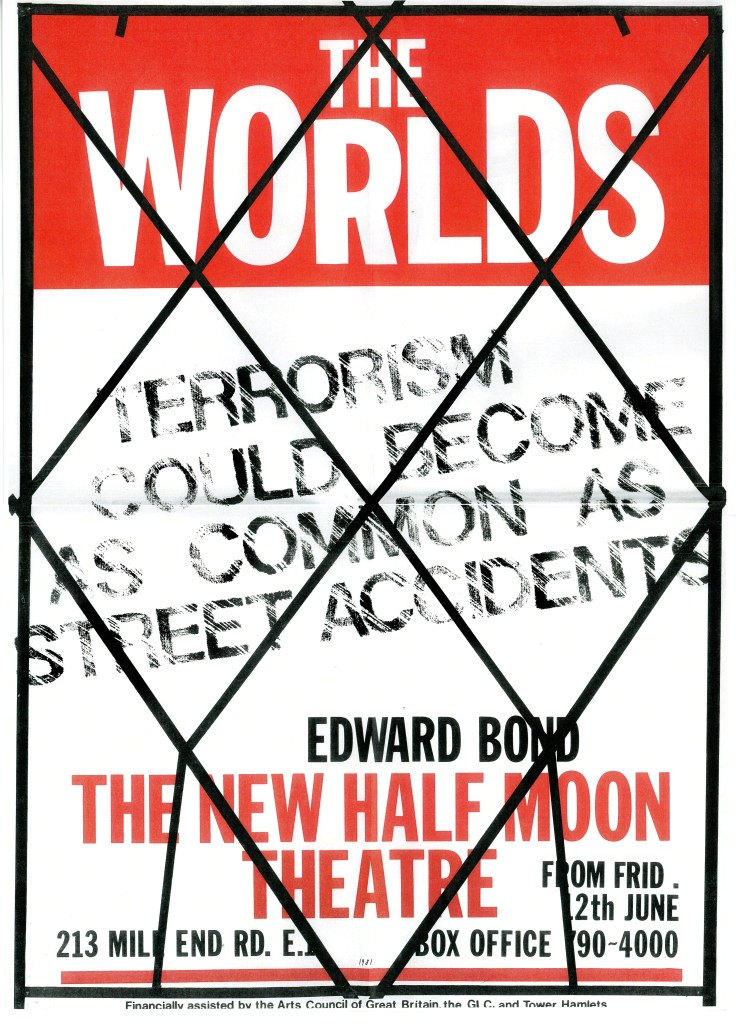 Edward Bond's The Worlds - Poster