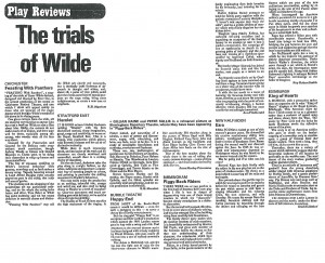 Ezra review, Roy Robert Smith, The Stage, 28 May 1981