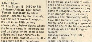 Female Transport - Time Out, 23-29 November 1973