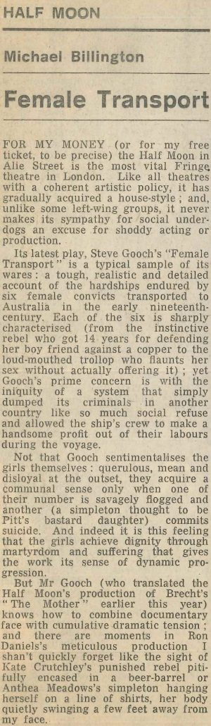 Female Transport review by Michael Billington