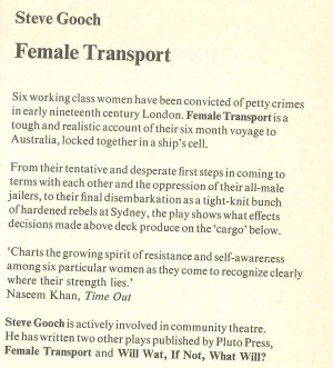 Female Trasport - Description
