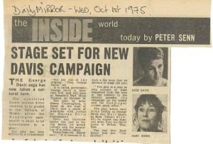 News Article 1st October 1975, The Daily Mirror