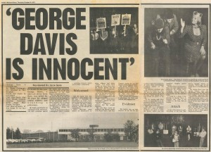 Workers Press, news article on George Davis is Innocent, 16 October 1975