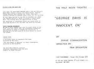George Davis is Innocent, OK - Programme (1)