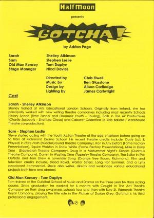 Gotcha! Programme (1)