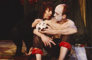 Frances de la Tour (Hamlet), Andy de la Tour (Rosencrantz). Photo by Donald Cooper, www.photostage.co.uk
