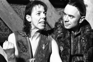 Hamlet (1987). Frances de la Tour, Robin Soans. Photo by Donald Cooper, www.photostage.co.uk