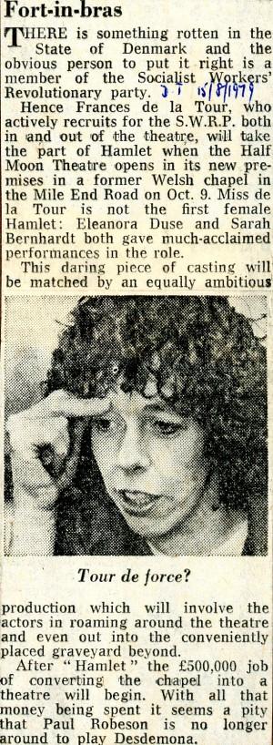 Hamlet - Daily Telegraph, 15 Aug 1979