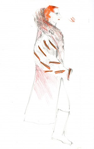 Hamlet, costume drawing Iona McLeish, Claudius (2)
