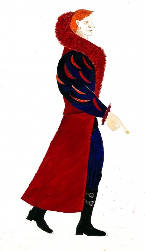 Hamlet, costume drawing Iona McLeish, Claudius