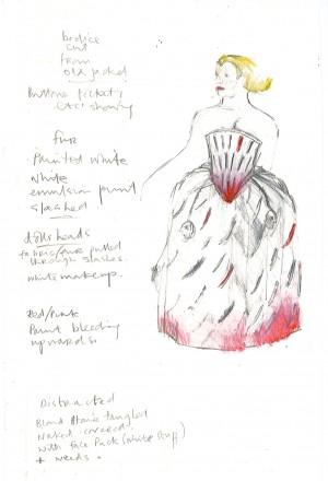 Hamlet. Ophelia sketch Iona McLeish