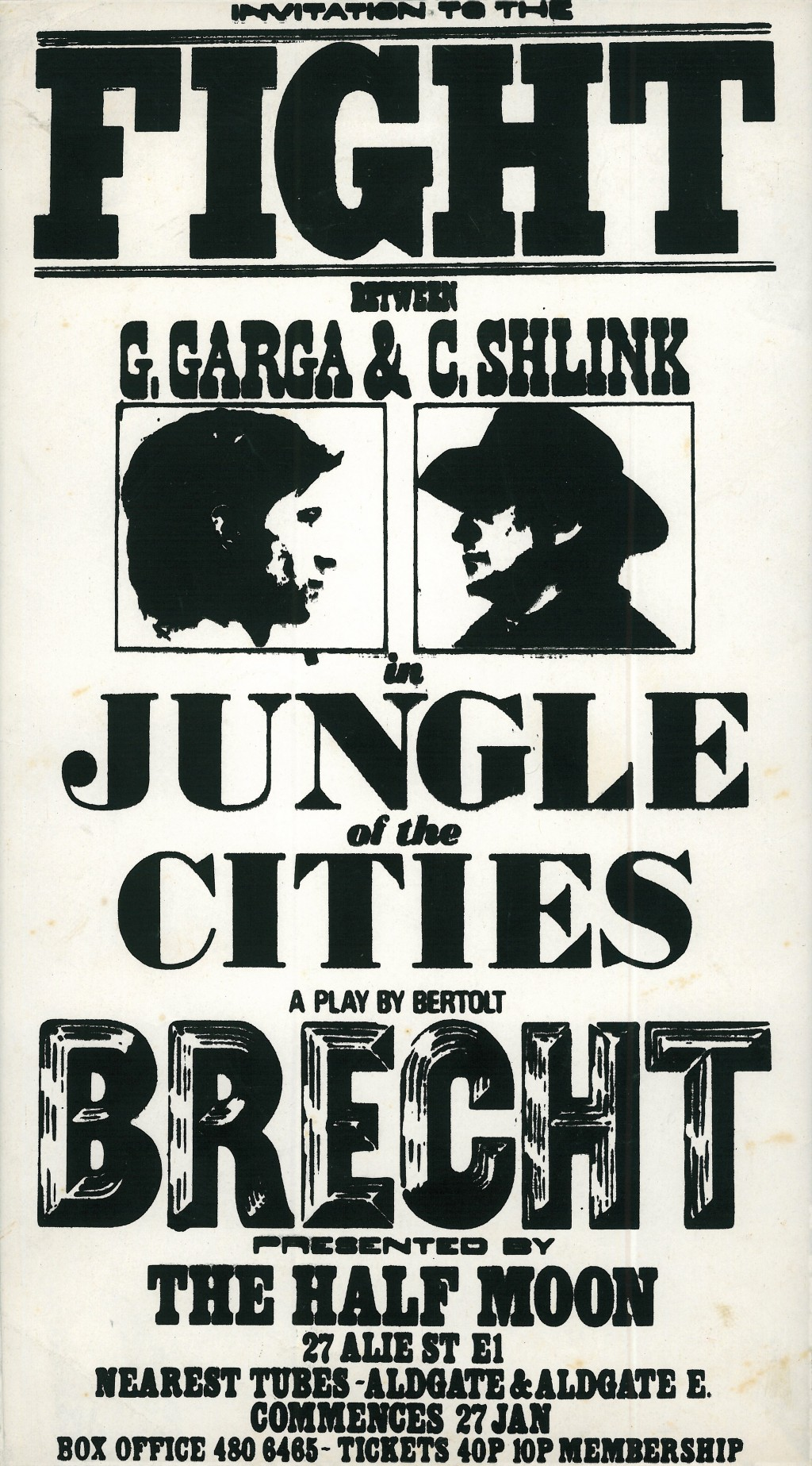 In the Jungle of Cities Poster