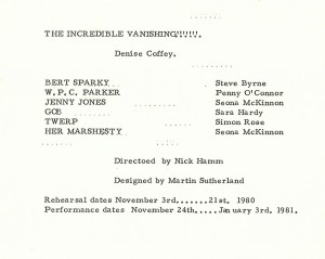 Incredible Vanishing - Cast List
