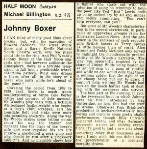 Johhny Boxer review - The Guardian
