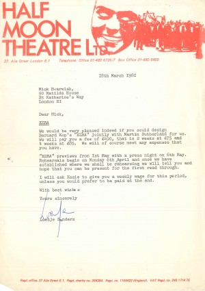 Letter of Offer - Bearwish -1981