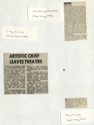 Multiple Articles on Robert Walker Leaving Half Moon 1983 (2)