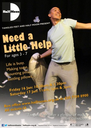 Need a Little Help poster R&D stage