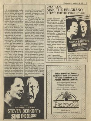 Midweek, 28 August 1986