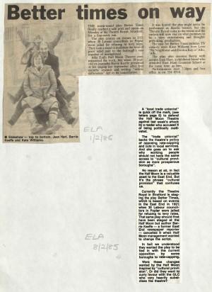 ELA, 1 Feb 1985