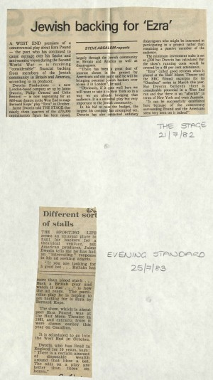 News article on development of Ezra, 1982-1983
