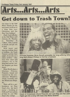 Caribbean Times, 2nd January 1987