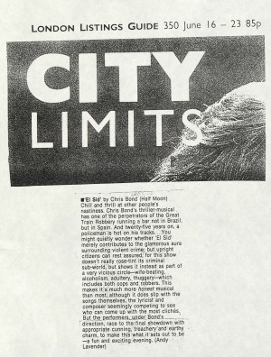 Andy Lavender, City Limits, 16th-23rd June 1988