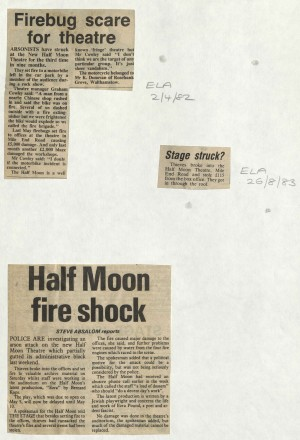 News story on arson attack during Ezra, ELA 1982