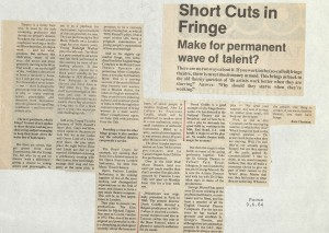 News Article- Focus, 9th June 1984, Kate Charman- Delicatessen