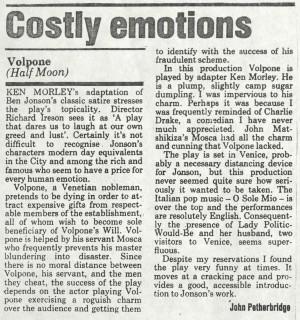 John Petherbrige, ILEA, 30th April 1987