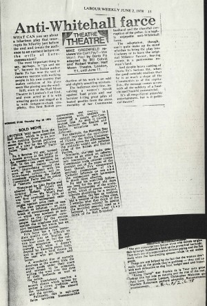 Labour Weekly and The Morning Star, June 1978
