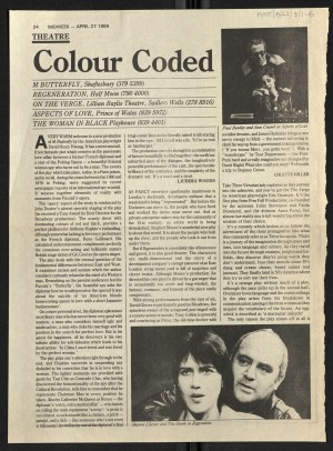 Colette Hiller, Midweek, 27 April 1989