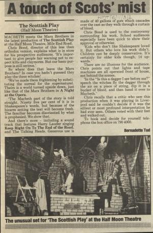 Bernadette Todd, October 1987
